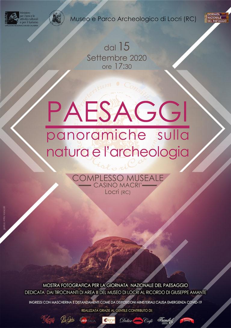 PAESAGGI: PANORAMICHE SULLA NATURA E L'ARCHEOLOGIA